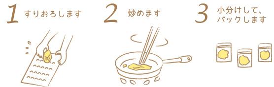 炒り生姜の作り方